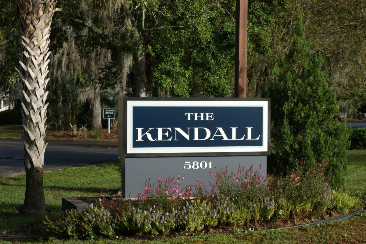 Sign to The Kendall in Brunswick, Georgia