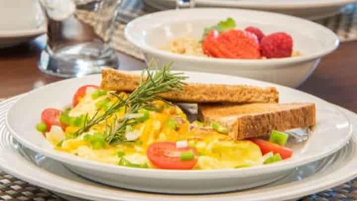healthy plate of food