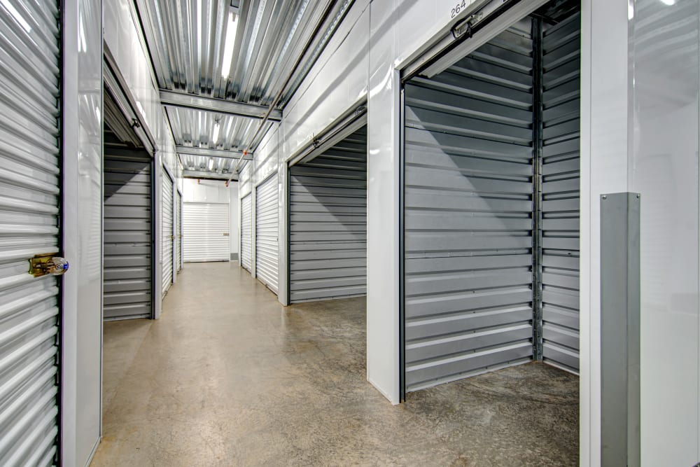 Spacious interior units available at San Marcos Mini Storage in San Marcos, California
