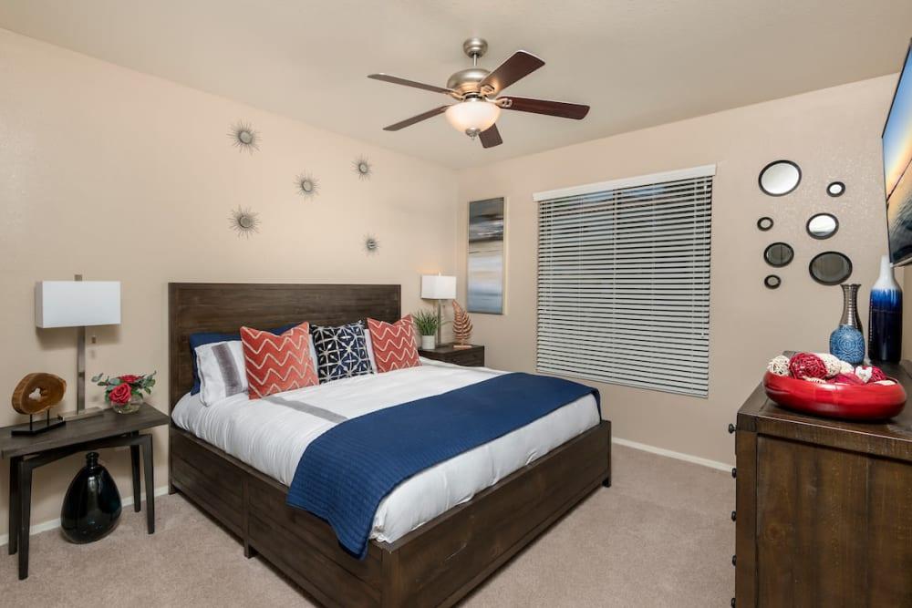 Bedroom at San Antigua in McCormick Ranch in Scottsdale, Arizona