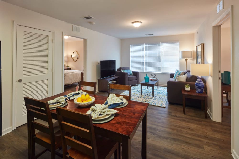 Large 1 2 and 3 bedroom floor plans at Trifecta Apartments
