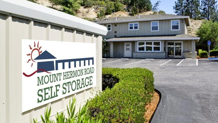 Mt. Hermon Road Self Storage Sign