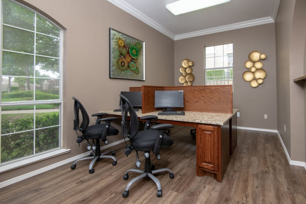 Spacious office at Ballantyne Apartments in Lewisville, Texas