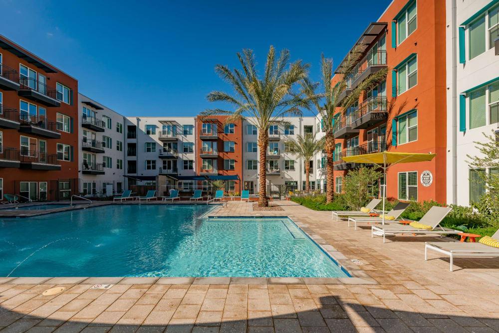 Luxury pool at Encore Tessera in Phoenix, Arizona