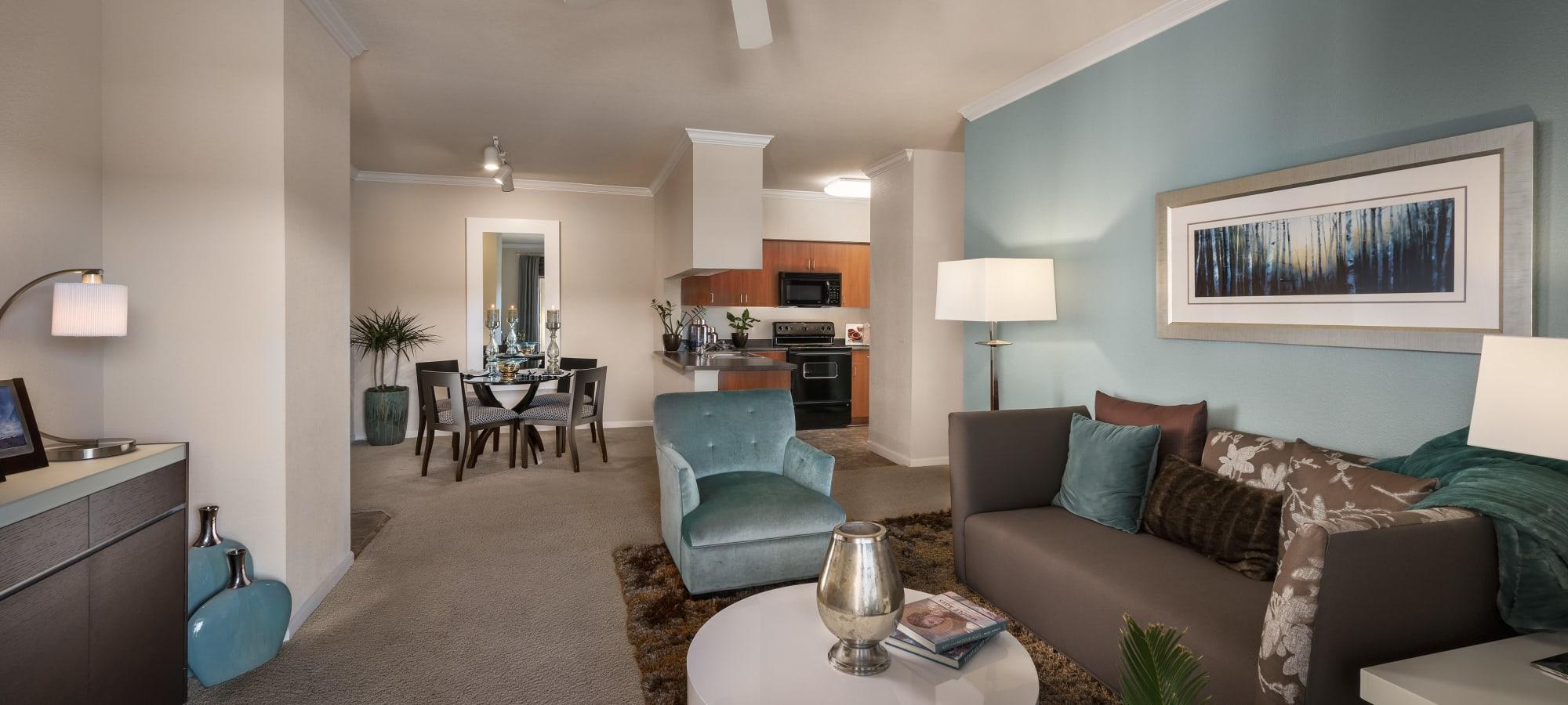 Spacious living room at Azul at Spectrum in Gilbert, Arizona