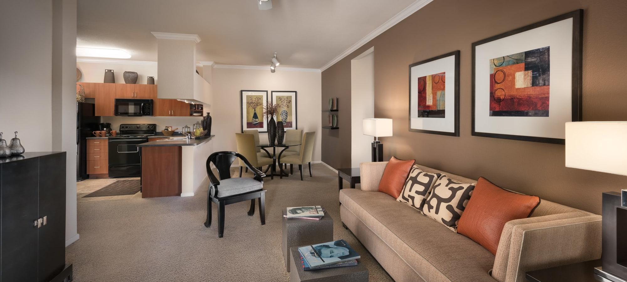 Welcoming living room at Azul at Spectrum in Gilbert, Arizona