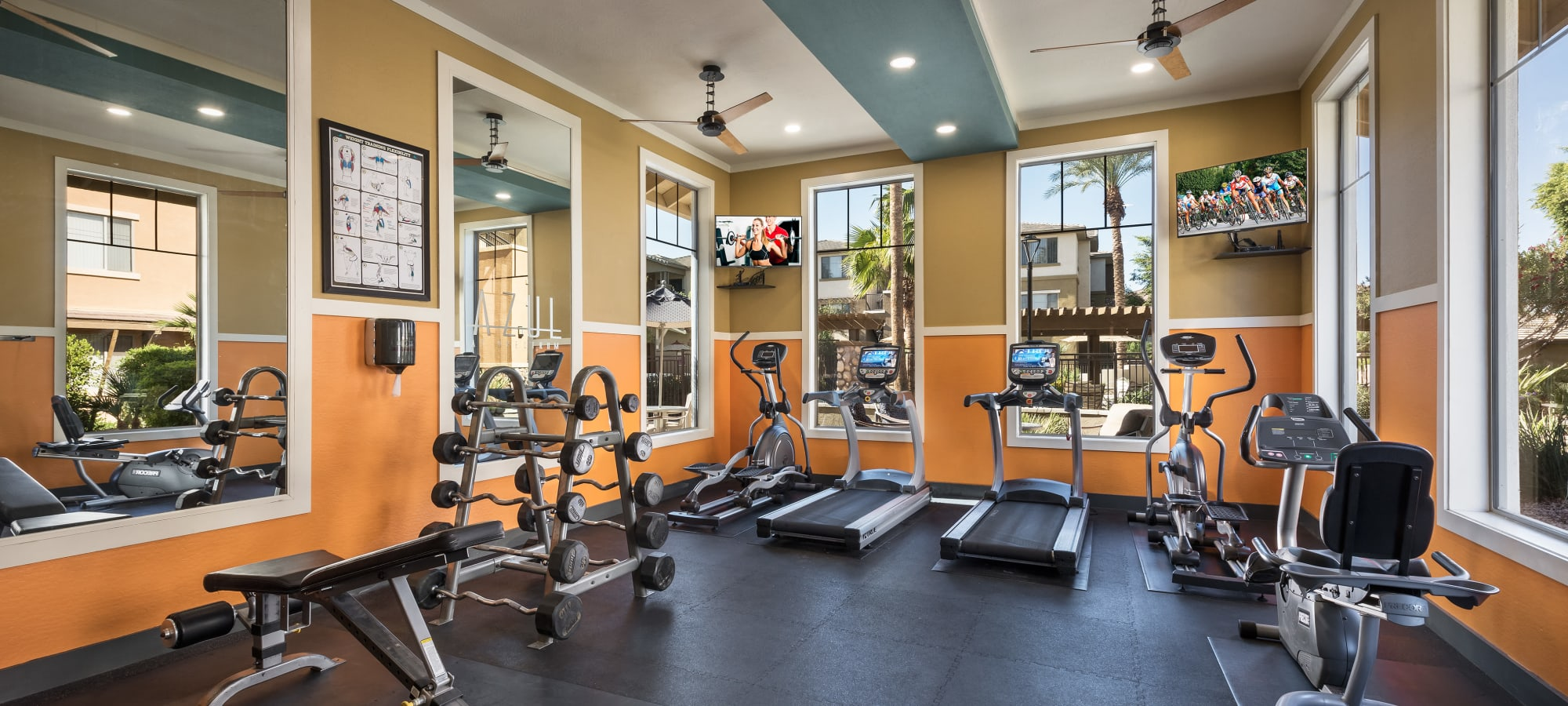 Gym at Azul at Spectrum