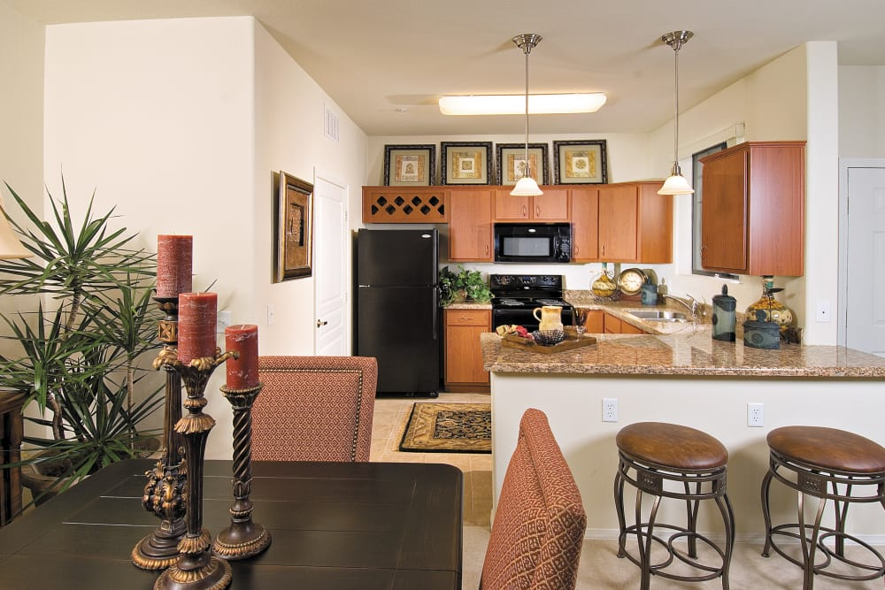 Kitchen with breakfast bar at Broadstone Desert Sky in Phoenix, Arizona