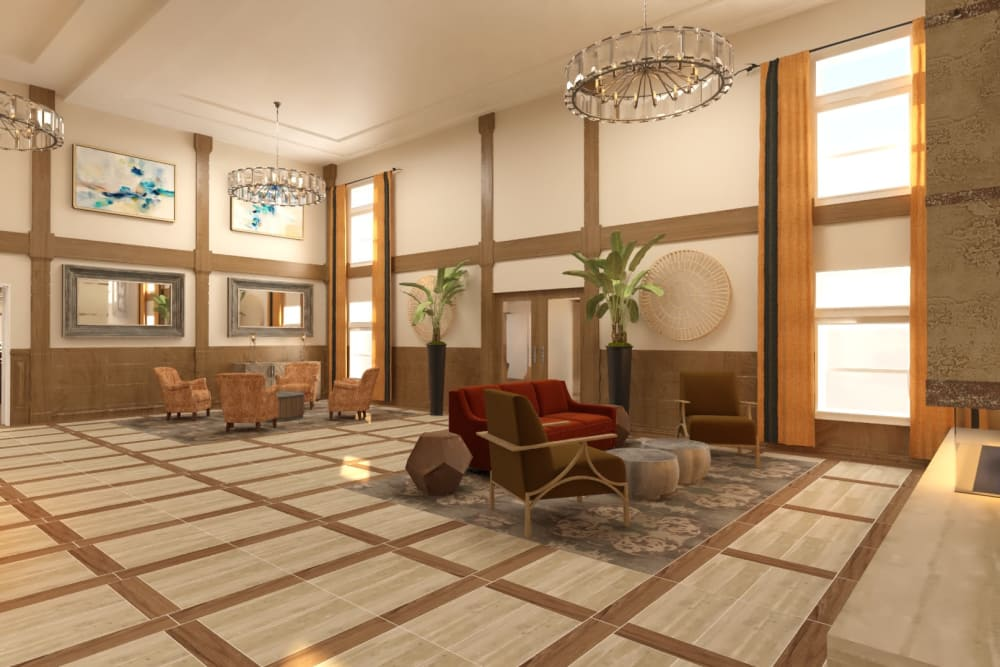 The Alexander lobby in Bend, Oregon