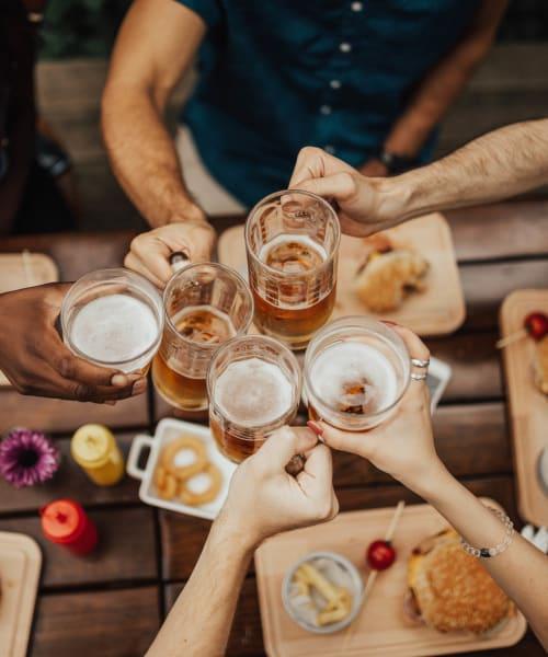 Residents toasting to their new life at Hidden Lake Condominium Rentals in Sacramento, California