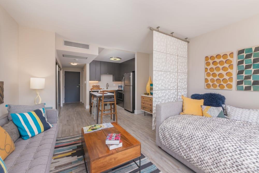 Enjoy a luxury living room at Mia