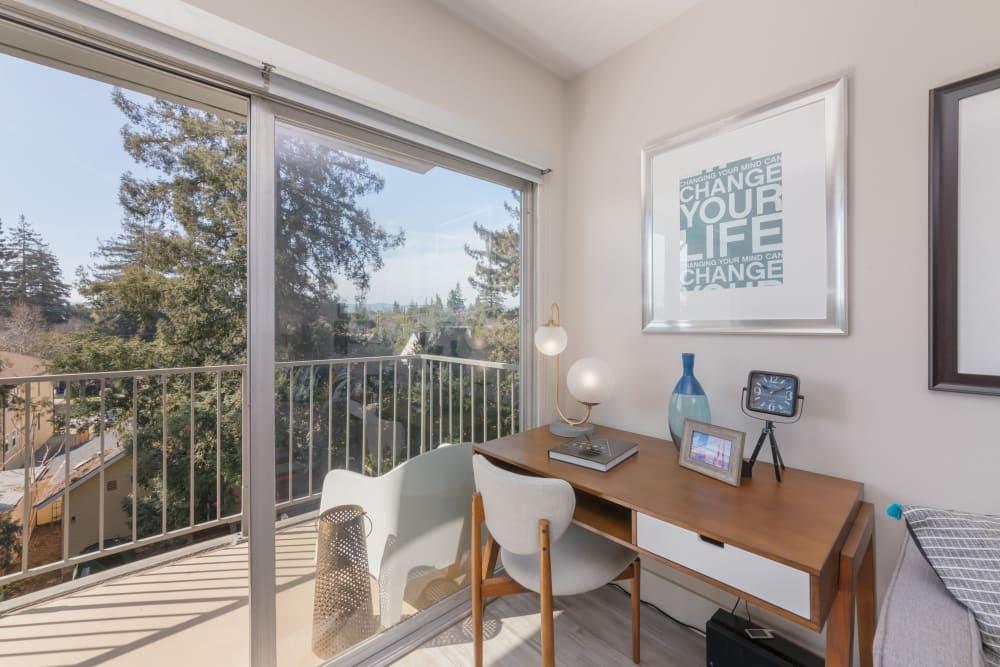 Enjoy a luxury private patio at Mia