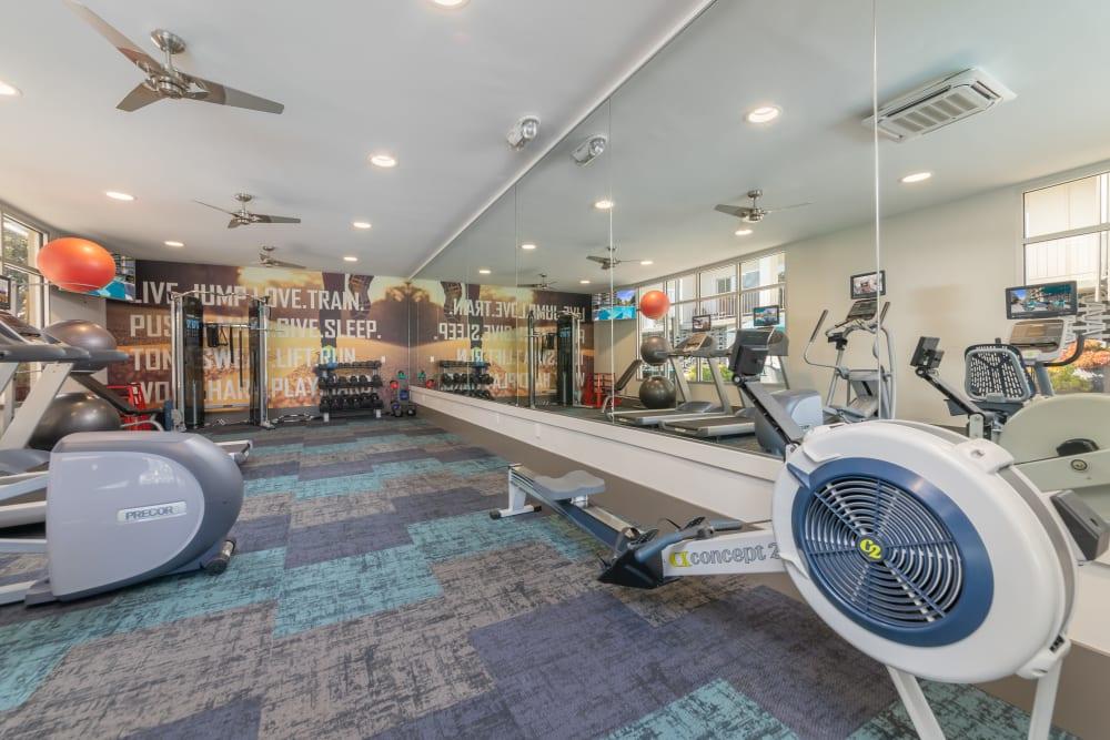Mia offers a luxury fitness center in Palo Alto, California