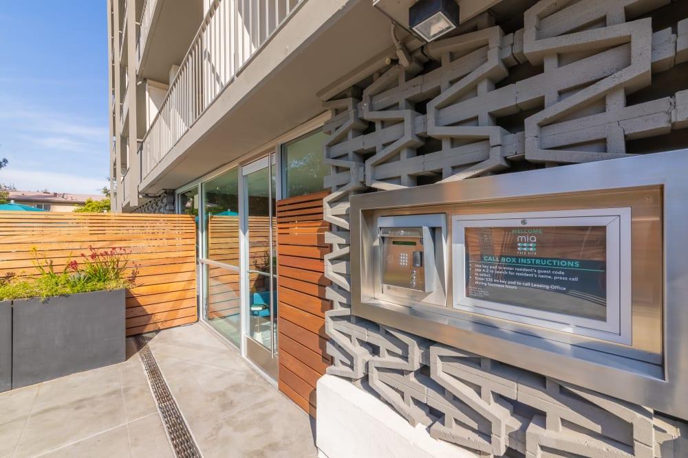 Luxury entryway at Mia in Palo Alto, California