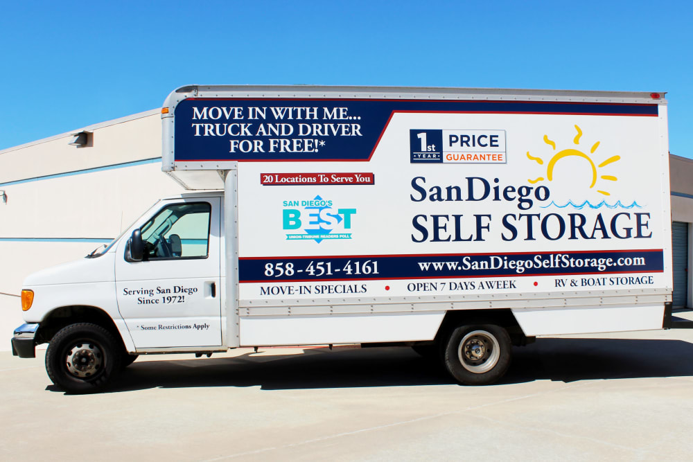 Truck at Otay Mesa Self Storage in San Diego, CA
