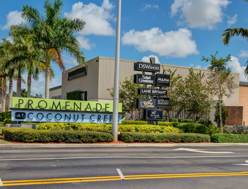 The Promenade shopping center near IMT Pinebrook Pointe in Margate, Florida