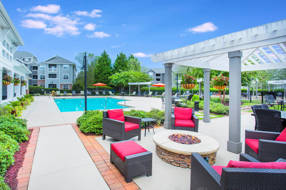 Firepit and Swimming Pool at The Seasons at Umstead in Raleigh, North Carolina