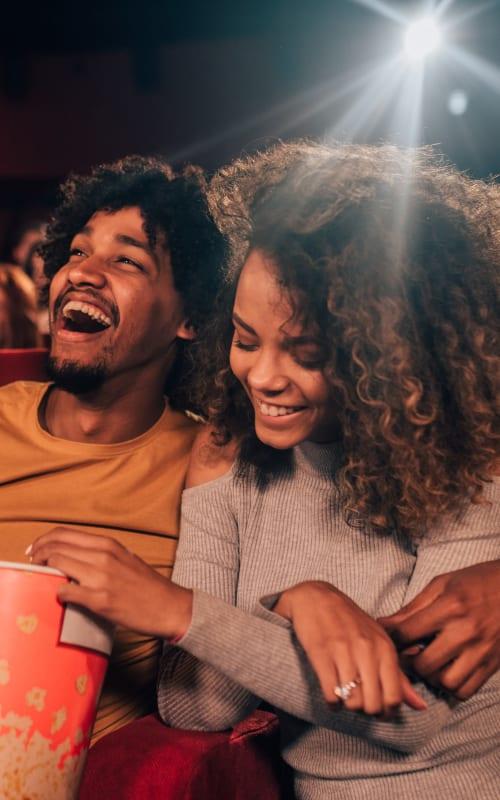 Couple enjoying a movie in Dallas, Georgia near Ten68 West