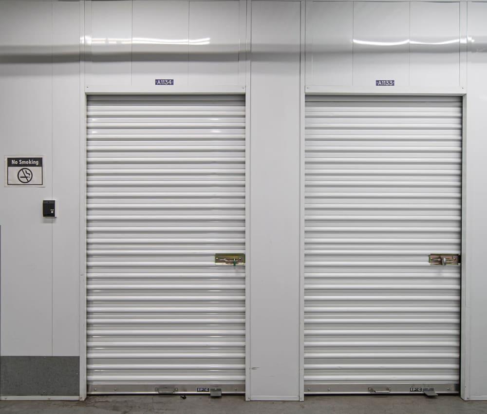 Indoor storage units at El Monte Storage in El Monte, California