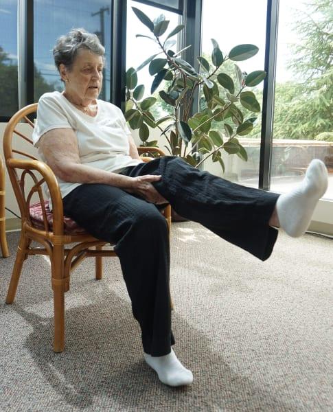 Leg Swing Chair Yoga Pose