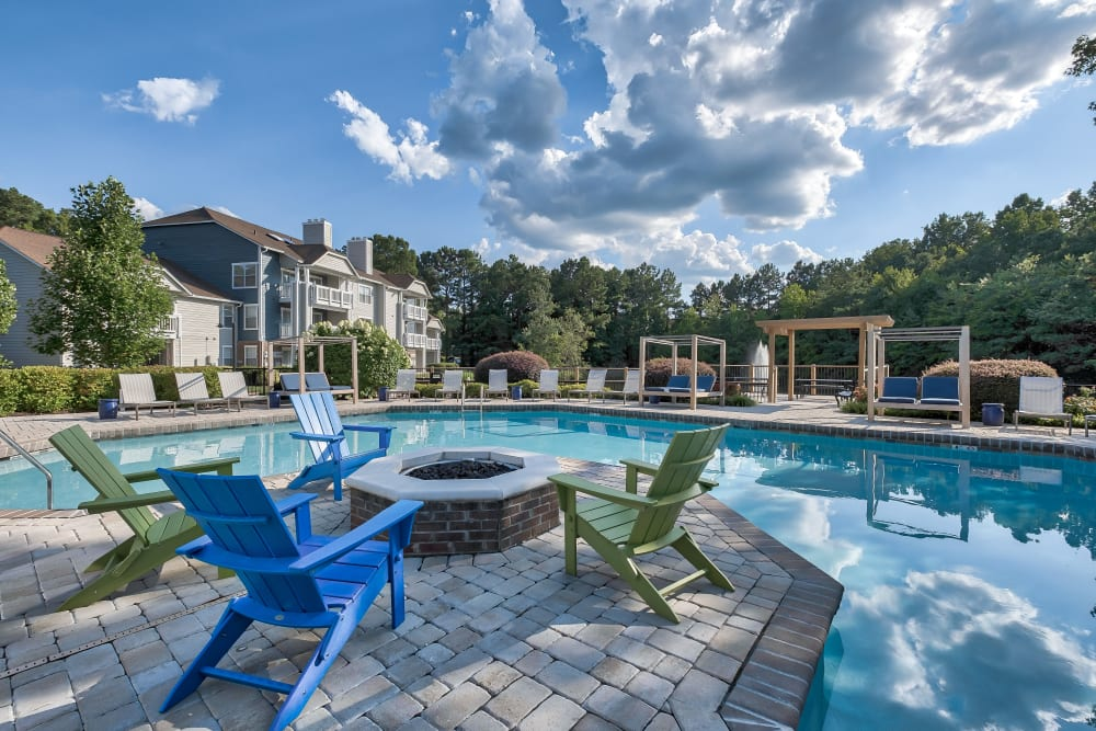 Swimming Pool & Fire Pit at Copper Mill Apartments