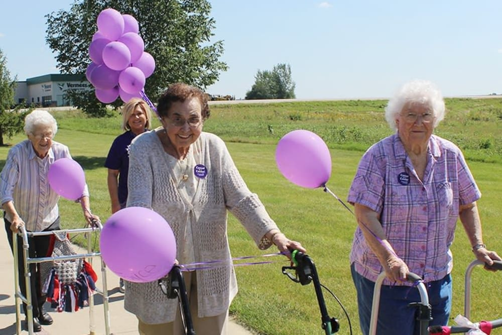 Resident activity walks at Prairie Hills in Independence, Iowa.