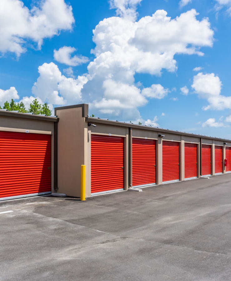 Outdoor units at StorQuest Self Storage in Tarpon Springs, Florida