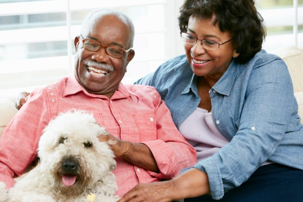 memory care therapy pet at rittenhouse village portage indiana