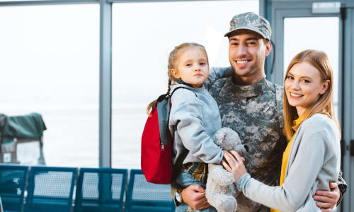 A military family that stores with A-1 Self Storage in San Diego, California
