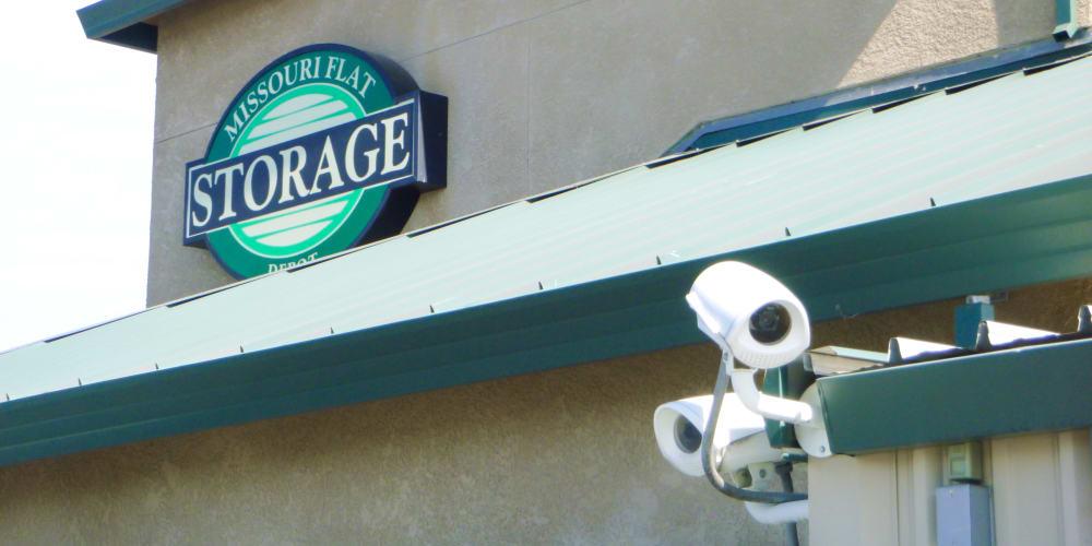 Digital cameras keep watch 24/7 at Missouri Flat Storage Depot in Placerville, California