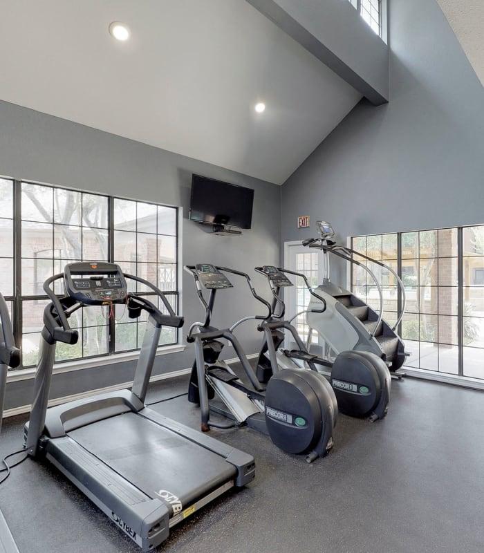 Modern fitness center at Oaks Hackberry Creek in Irving, Texas