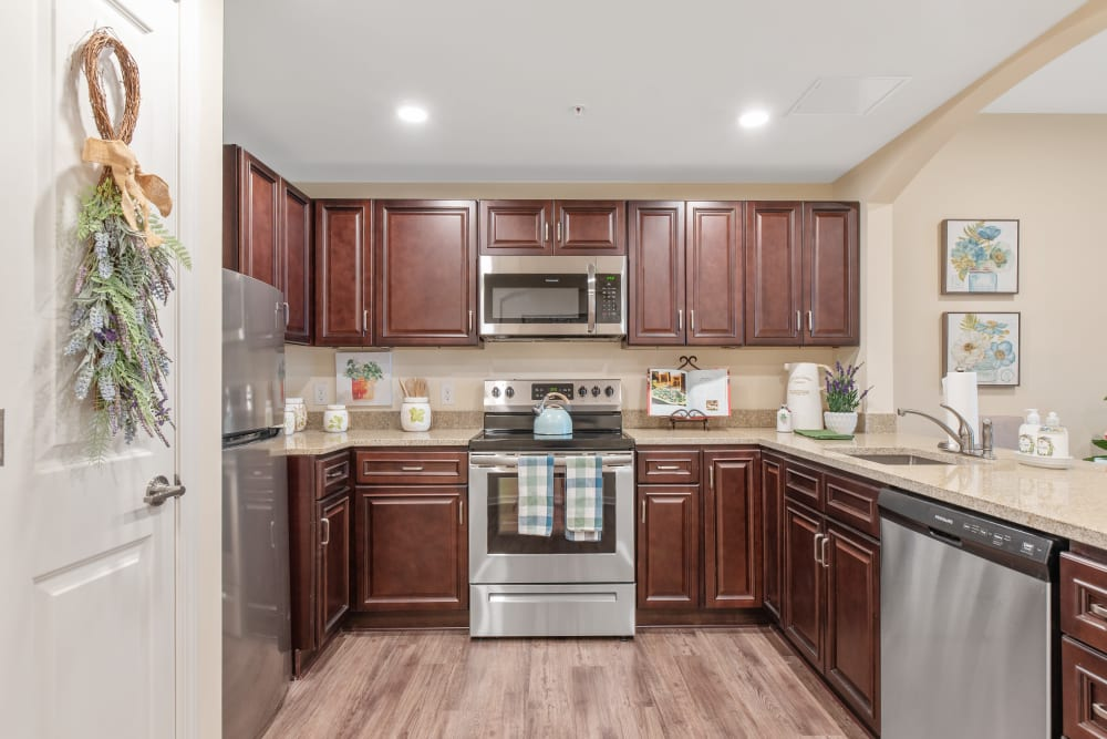 Kitchen at Harmony at Greensboro in Greensboro, North Carolina