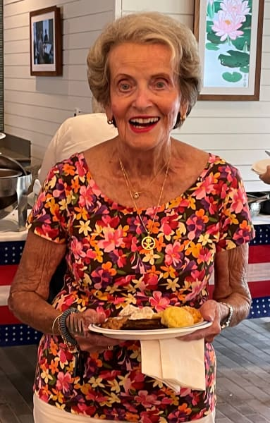 Carolina Park (SC) residents were all smiles during their delicious Fourth of July barbeque.