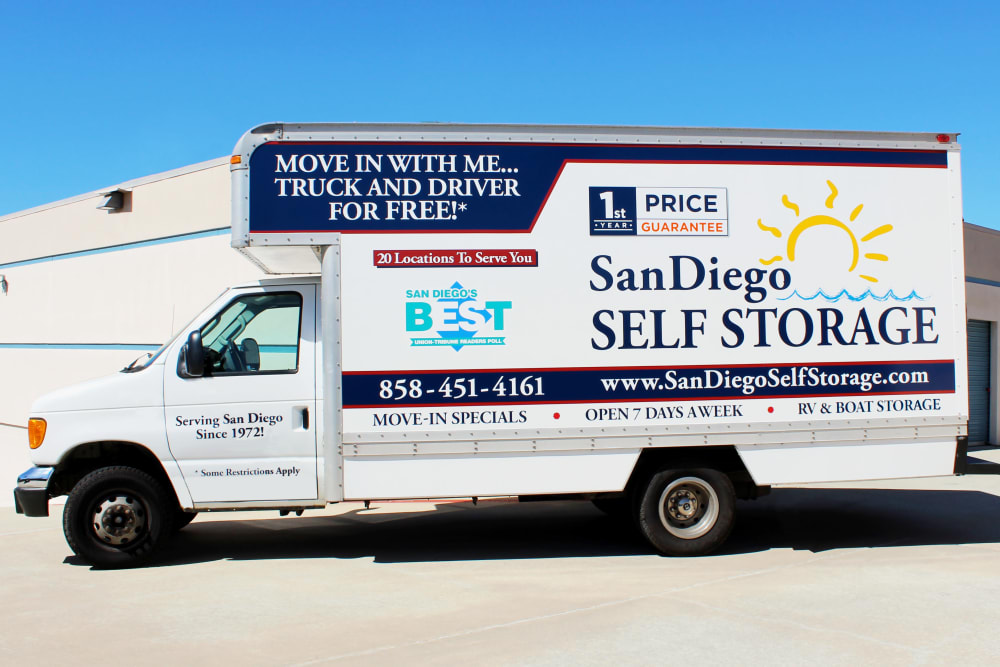 FREE move-in truck at North County Self Storage