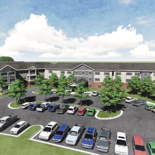 Rendering of The Crossings at Eastchase in Montgomery, Alabama