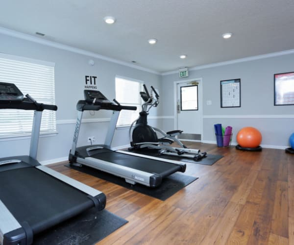 Fitness center at Madison Pines in Madison, Alabama