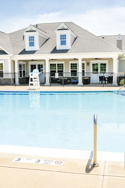 Swimming pool at Rivers Pointe Apartments in Liverpool, NY