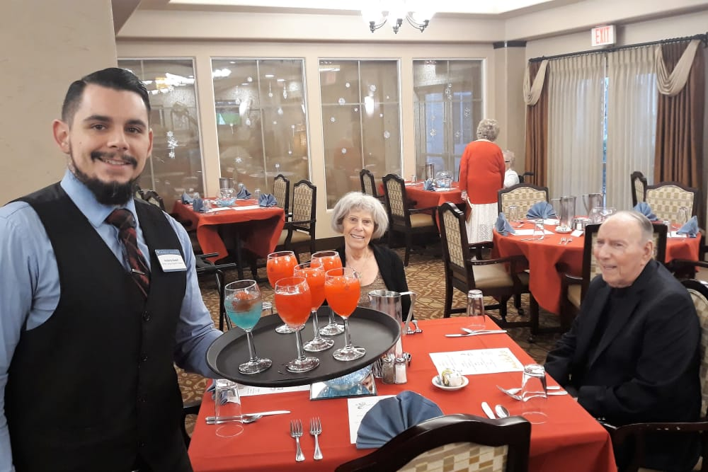 Fire and Ice party at our senior living community in Henderson, NV