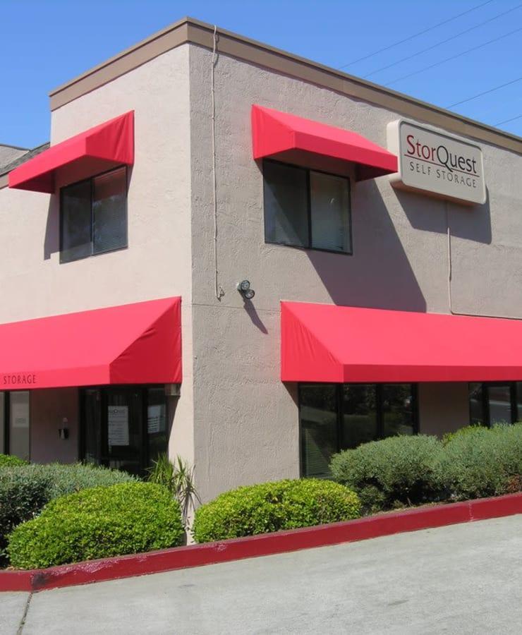 Exterior of StorQuest Self Storage in Vallejo, California