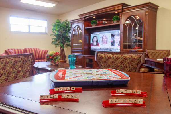 Activity and events room at Salishan Gracious Retirement Living in Spring Hill, Florida