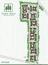Site map of Poplar Place in Memphis, Tennessee