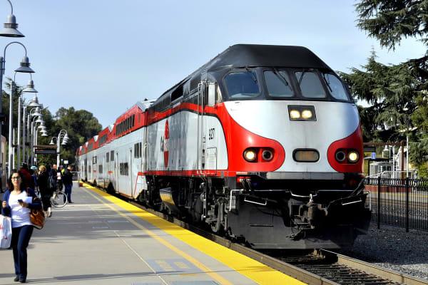 Train station near Palo Alto Plaza in Mountain View, California