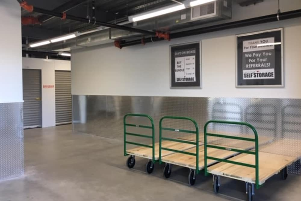 Carts available at Edgemark Self Storage in Glendale, Colorado