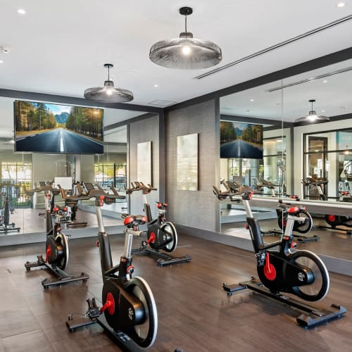 State-of-the-art fitness center at 6600 Main in Miami Lakes, Florida
