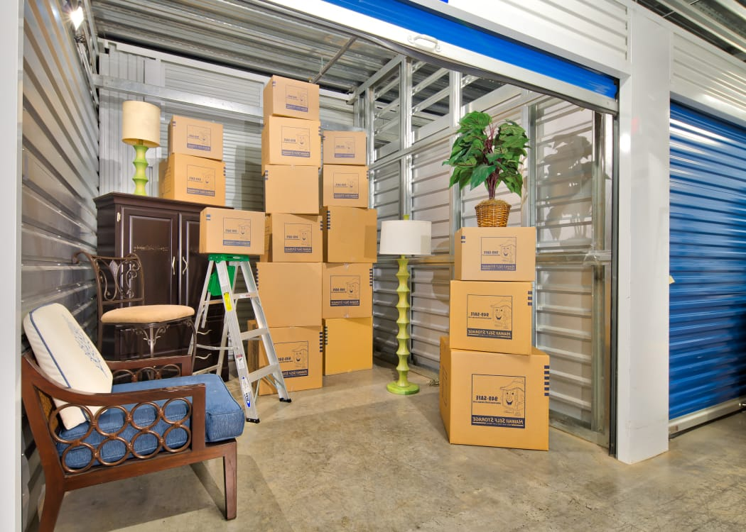 View of one of our extra large storage units at Hawai'i Self Storage