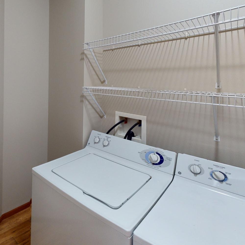 Laundry at  Oaks Hiawatha Station in Minneapolis, Minnesota