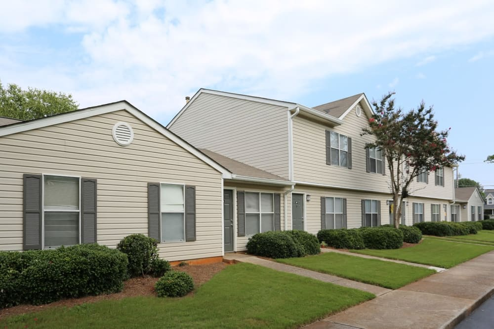 Exterior on a clear day at Madison Pines in Madison, Alabama