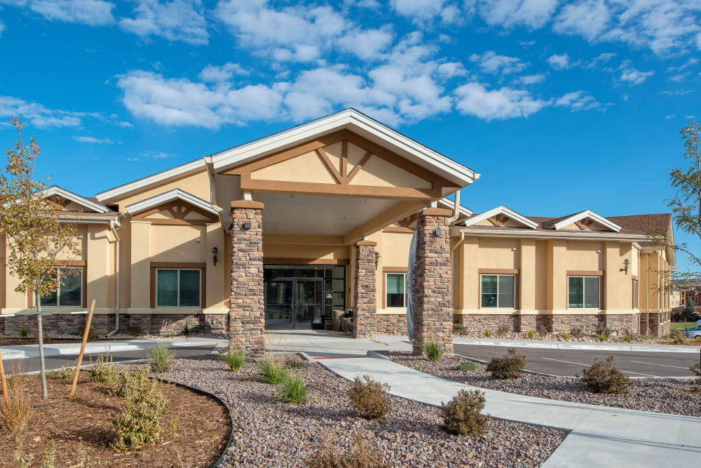 Memory Care entrance at Pine Grove Crossing in Parker, Colorado