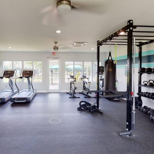 View virtual tour of the gym at Verse at Royal Palm Beach in Royal Palm Beach, Florida