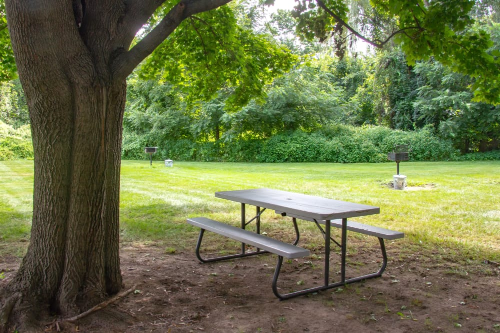 Beautiful park seating at Fox Hill in Enfield, Connecticut
